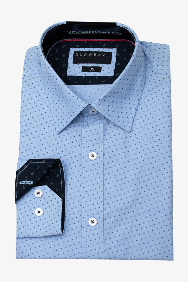 GLOWEAVE | CONTEMPORARY FIT BUSINESS SHIRT Blue 41