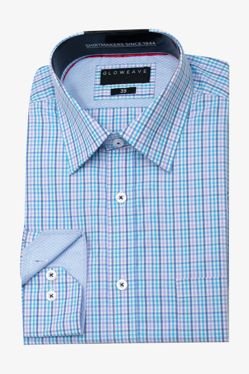 GLOWEAVE | CONTEMPORARY FIT BUSINESS SHIRT Lilac 41