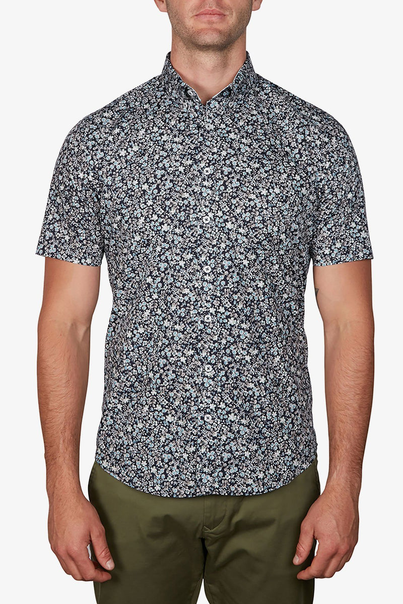 Jeff Banks | Floral Shirt Navy S