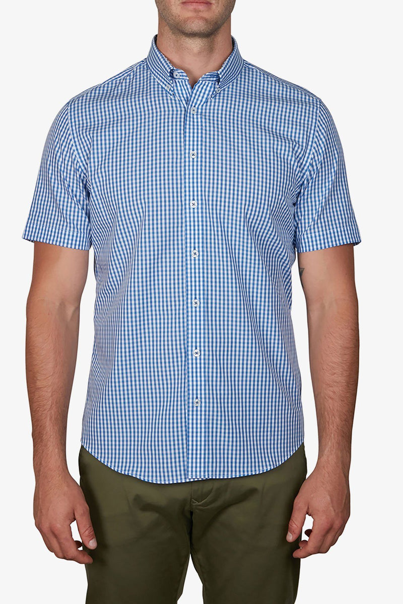 Jeff Banks | Gingham Shirt Blue S