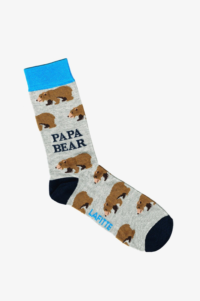 LAFITTE | Socks Papa Bear Marle Grey 6-10