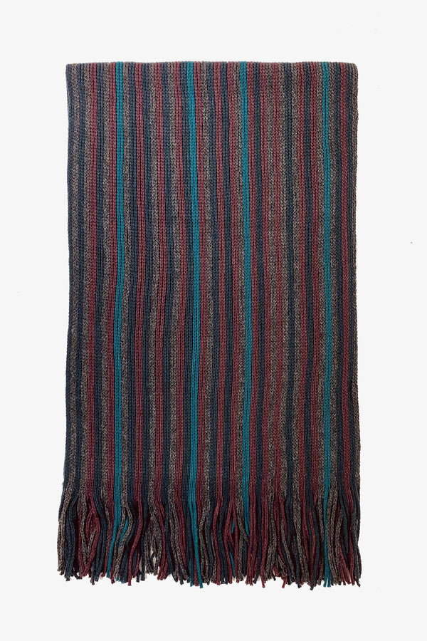 SOVRANO | Scarf Rochelle Stripe Burgundy ALL