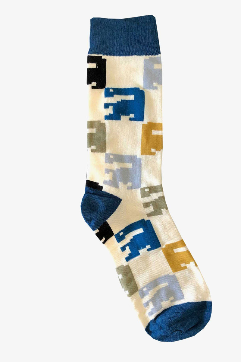 SUNNY APPAREL | 8-BIT SOCKS Blue ALL