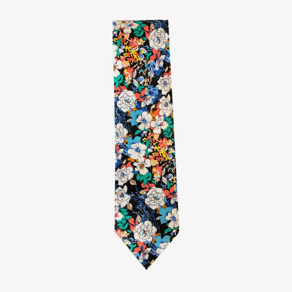 Sunny Apparel | Allen Floral Cotton Tie Navy ALL