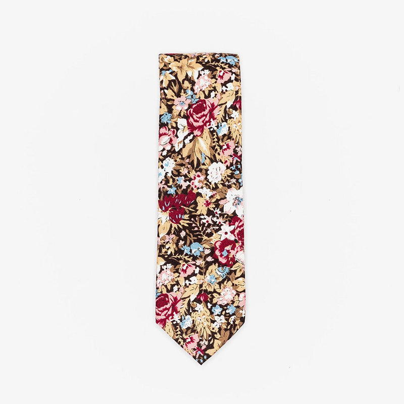 Sunny Apparel | Bergen Floral Cotton Tie Burgundy ALL