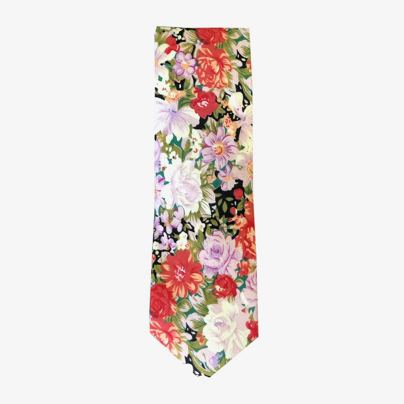Sunny Apparel | Brome Floral Cotton Tie Purple ALL