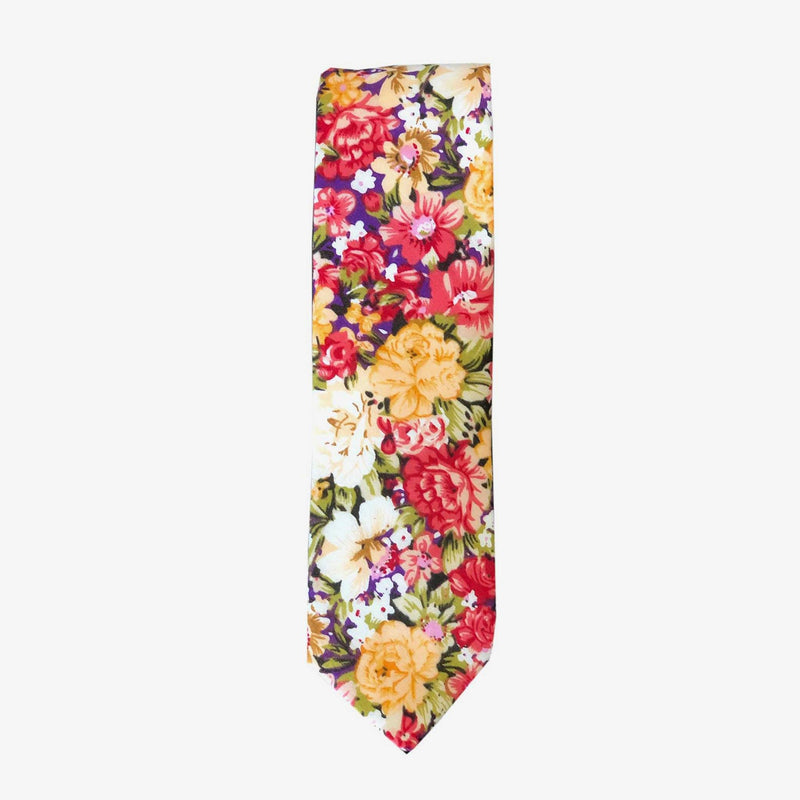 Sunny Apparel | Brome Floral Cotton Tie Red ALL