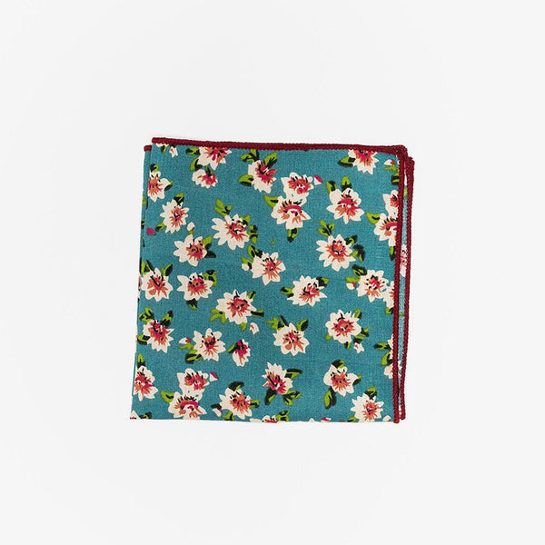 Sunny Apparel | Cedar Park Pocket Square Aqua ALL