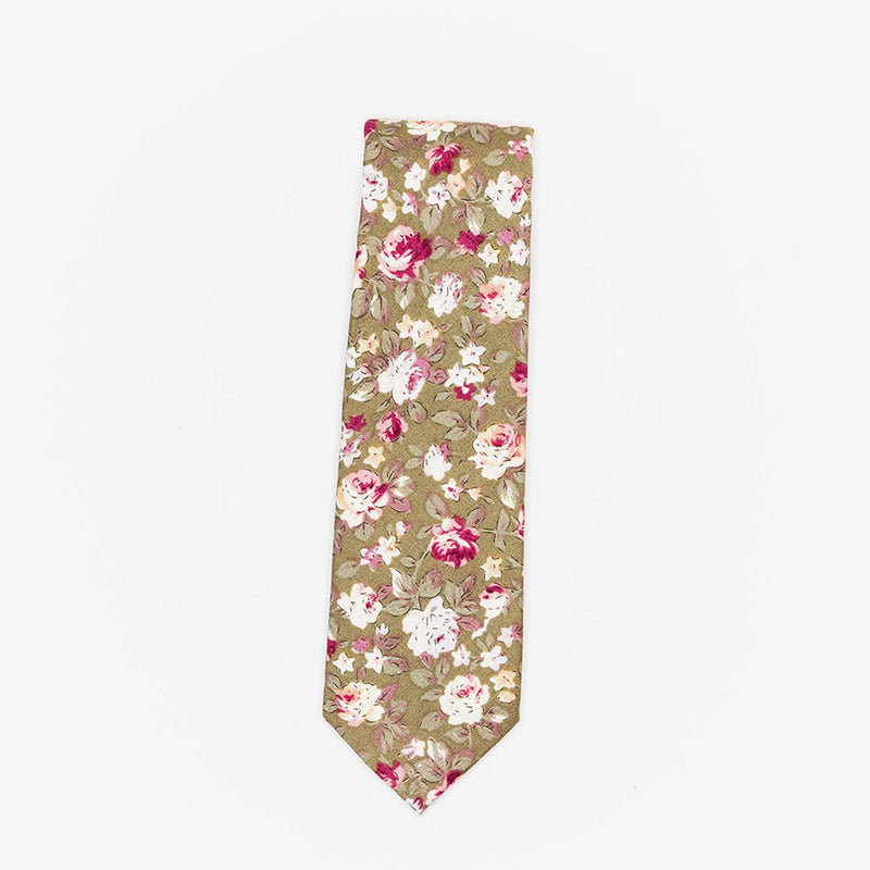 Sunny Apparel | Columbia Floral Cotton Tie Beige ALL