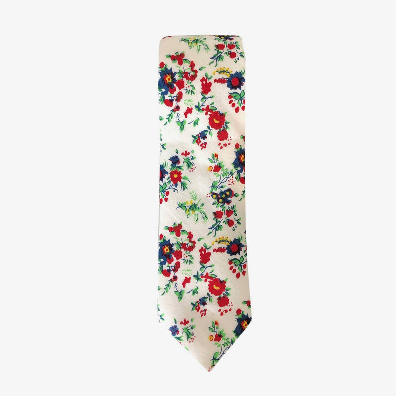 Sunny Apparel | Fairbanks Floral Cotton Tie Cream ALL