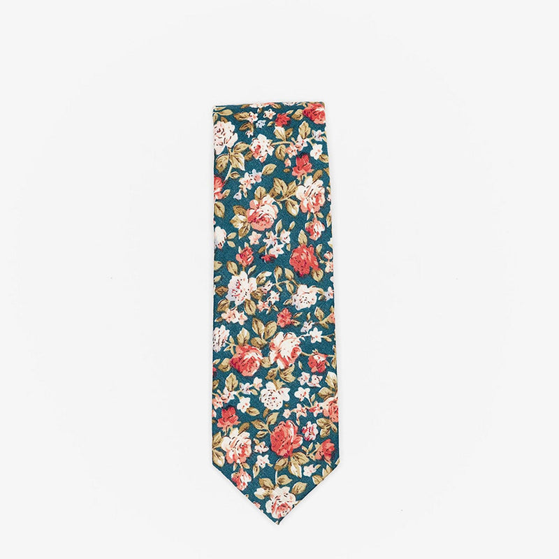 Sunny Apparel | Knott Floral Cotton Tie Green ALL