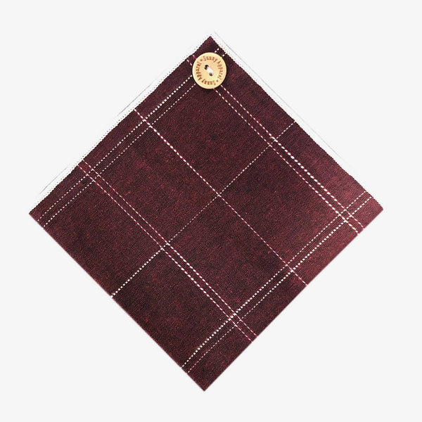 Sunny Apparel | North Bay Pocket Square Burgundy ALL