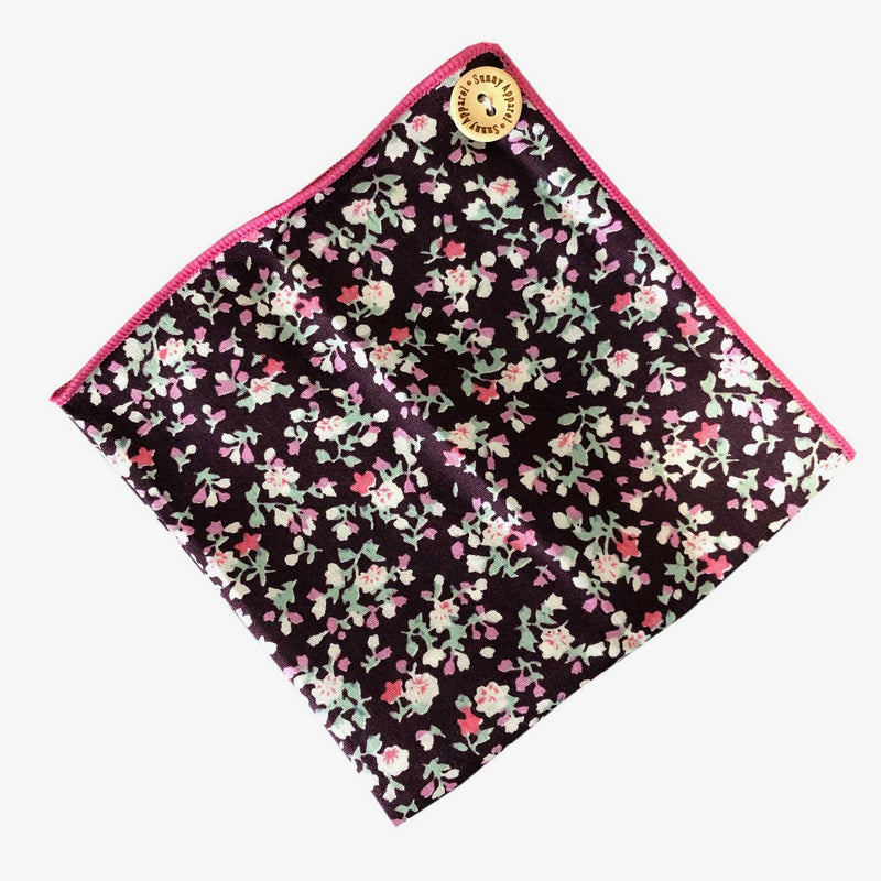 Sunny Apparel | Reading Pocket Square Burgundy ALL