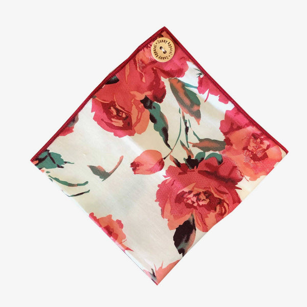 Sunny Apparel | Rose Pocket Square Rose ALL