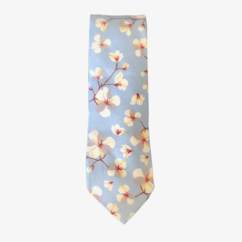 Sunny Apparel | San Fran Floral Cotton Tie Light Blue ALL