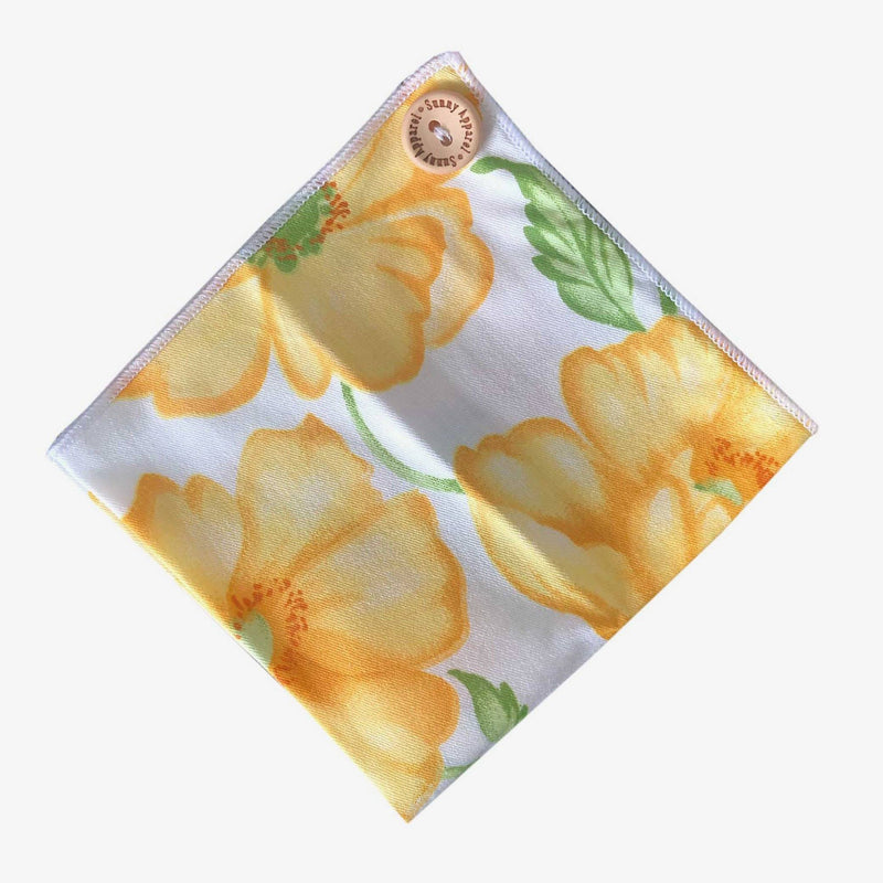 Sunny Apparel | Santa Clara Pocket Square Yellow ALL