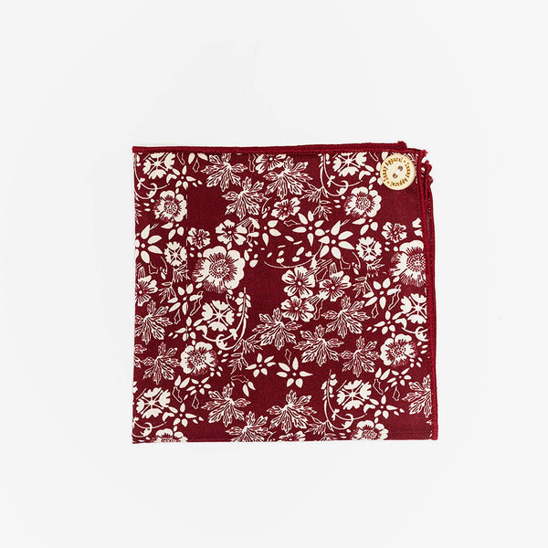 Sunny Apparel | Sparks Pocket Square Burgundy ALL