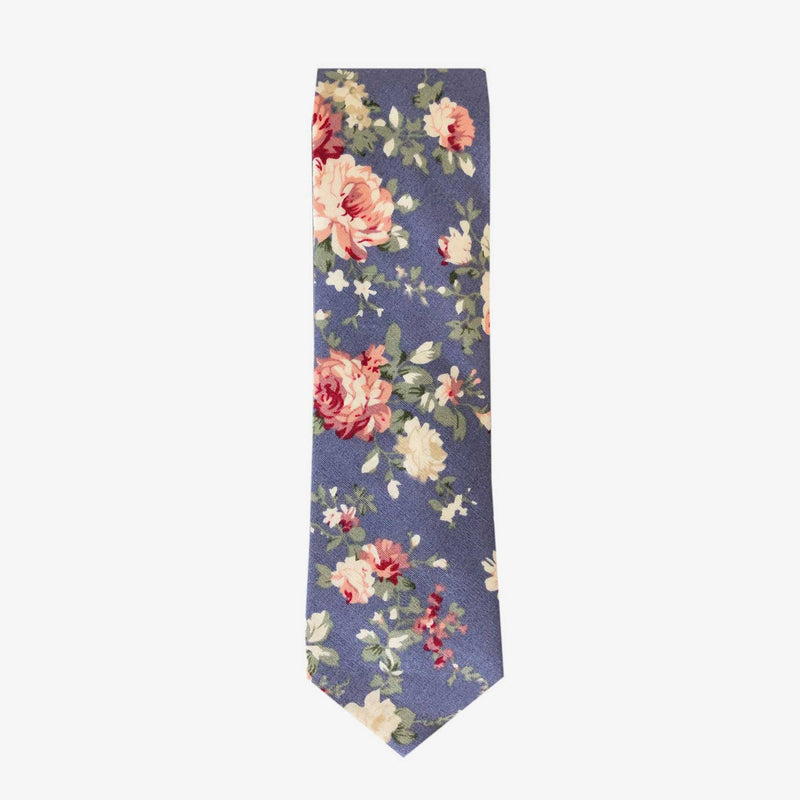 Sunny Apparel | Sydney Floral Cotton Tie Blue ALL