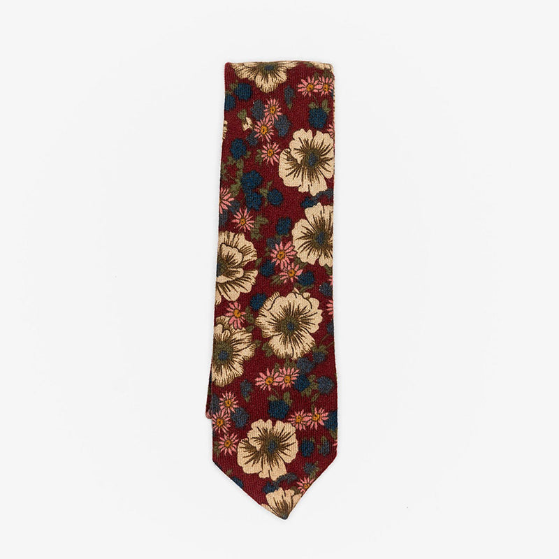 Sunny Apparel | Wolfsburg Floral Cotton Tie Burgundy ALL