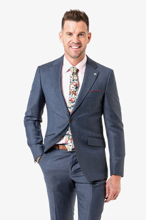 Wolf Kanat | Hearts Suit Jacket Blue Grey 88 R