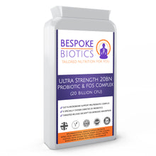 Charger l'image dans la galerie, Ultra Strength Probiotic Complex | 20 Billion cfu & FOS |Stress| Digestion |Inflammation | Epithelial Crosstalk | Immunity Booster| Reduces Histamines  | Viral Recovery |120 Caps