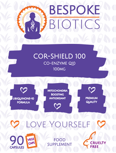 COR-Shield 100 CoEnzyme Q10 100mg 100% With B1 Natural High Absorption 90 Caps
