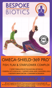 Omega-Shield 369 Pro Fish Oil &  Flax Starflower Plant Oil Complex - Full Spectrum-  1000mg 90 Capsules | Latest Formula | Better than Pure Fish Oil alone  Inc EPA | DHA | ALA | UK Made GMP Standards
