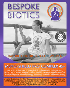 Meno-Shield PRO 45+ Bone & Hormone Support Vitamin D, Zinc Calcium 60 Capsules
