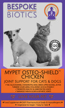Laden Sie das Bild in den Galerie-Viewer, MyPet Osteo-Shield Joint Support For Pets Glucosamine 250mg Dogs & Cats 120 Tabs