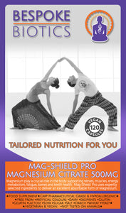 Mag-Shield PRO Magnesium Citrate 500mg 120 Capsules - Highly Absorbable