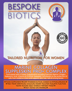 MARINE Collagen SUPPLESKIN PRO+ COMPLEX 60 Caps Hyaluronic Acid Natural Iodine Skin and Hair