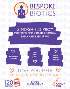 Zinc 15mg 120 Capsules Essential Mineral Supplement Supports  Immunity, Skin, Hair & Nail Care.  Zinc-Shield Pro™