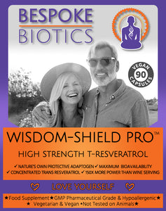 WISDOM-Shield 40+ Ultra High STRENGTH T-Resveratrol Supplement 150mg 90 Capsules