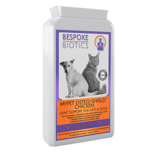 MyPet Osteo-Shield Joint Support For Pets Glucosamine 250mg Dogs & Cats 120 Tabs