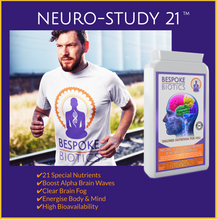 Charger l'image dans la galerie, Neuro-Study Nootropic-21 Vitamin Complex 90 Caps 8hrs+ Memory Focus Legal Natural Brain Support inc Ginkgo, Choline, Betaine, Carnitine, Lecithin, Vitamins and Minerals