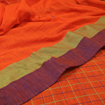 Phulia Cotton with Embroidered Boxes and Butis - Orange