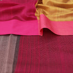 Maheshwari Silk Cotton Saree - Plain Border - Grey