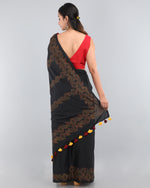 Vine - Cotton Modal Saree - Black