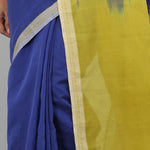 Flower Power Saree - Cobalt/Lime