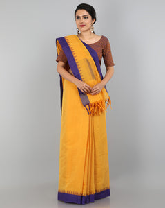 Ponduru Khadi Saree - Mango Yellow