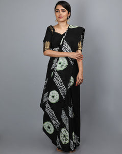 Mul Cotton Saree in Shibori - 06