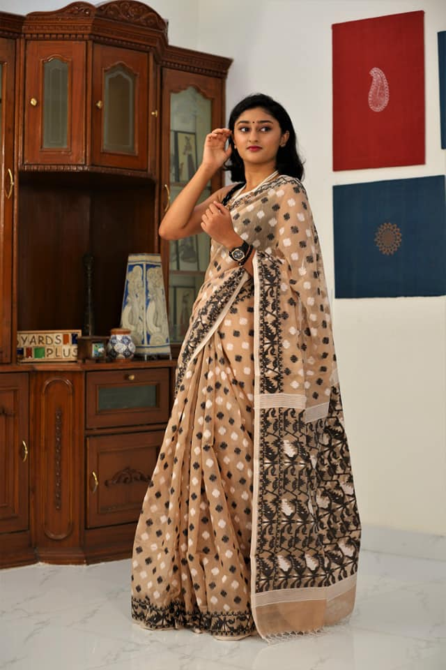 Dhakai Jamdani Cotton Saree