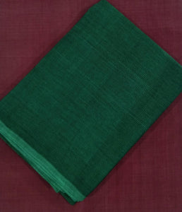 Summer Breeze Mangalagiri Cotton Saree - Dark Green