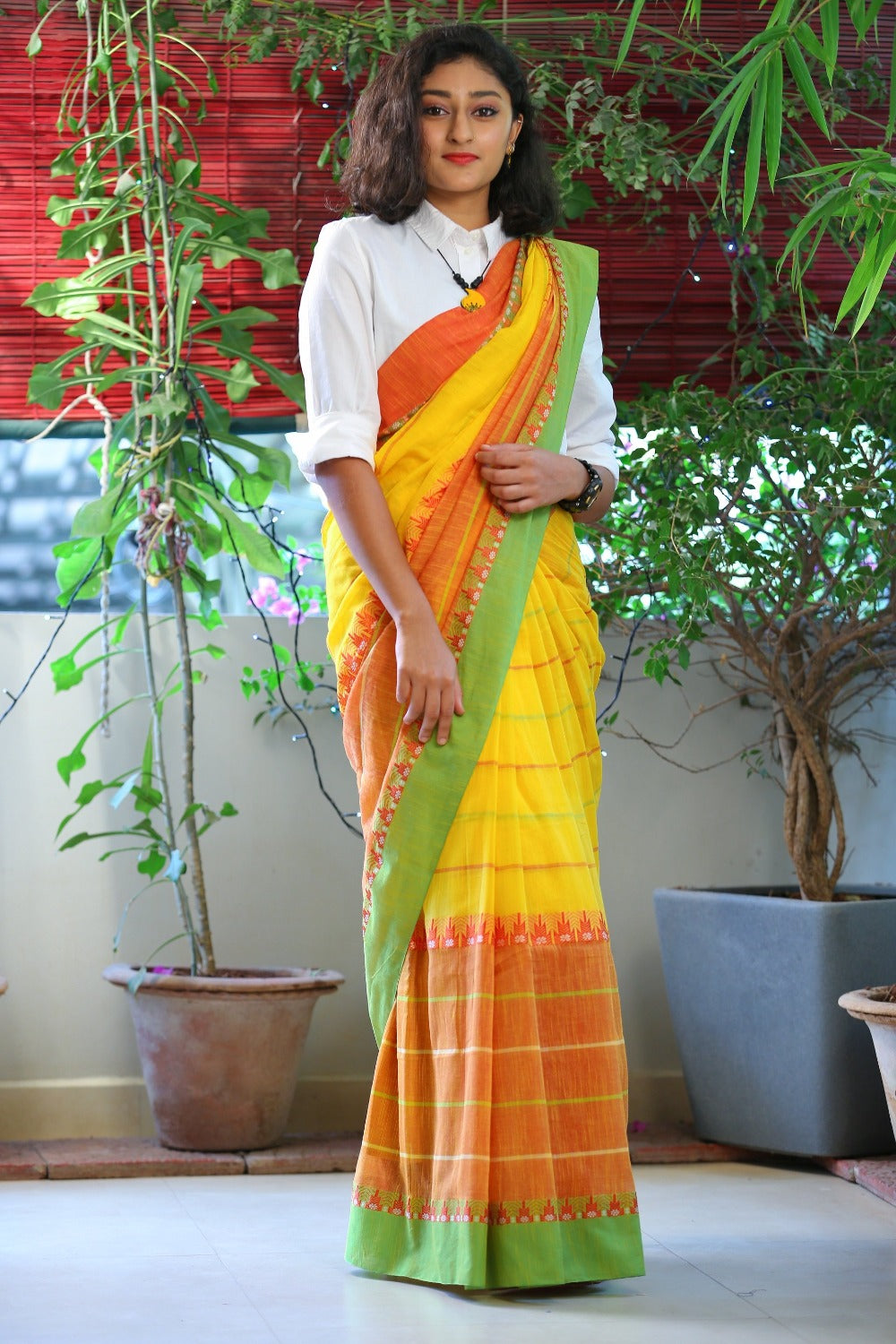 Phulia Cotton Saree- Skirt Border