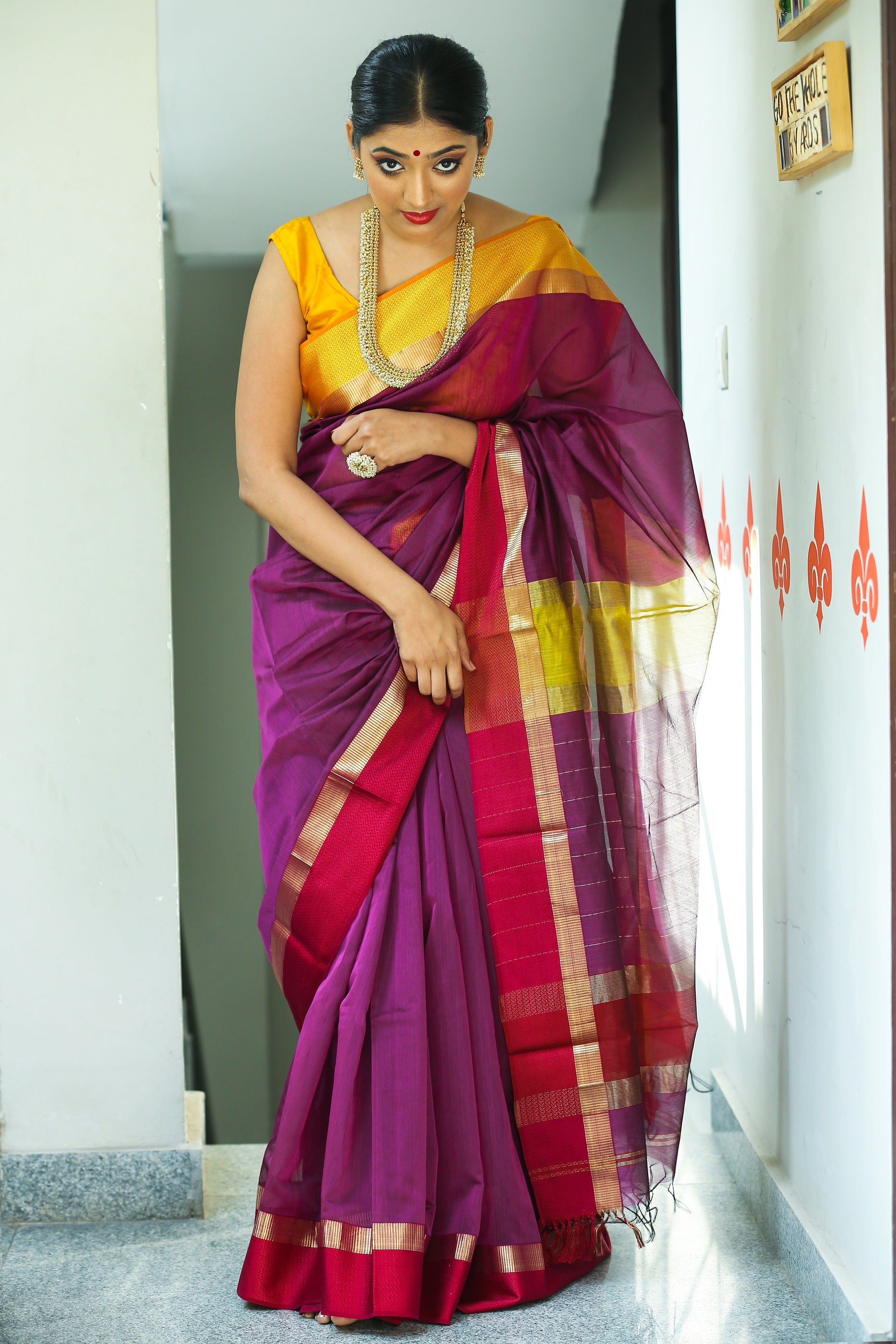 Maheshwari Silk Cotton Saree