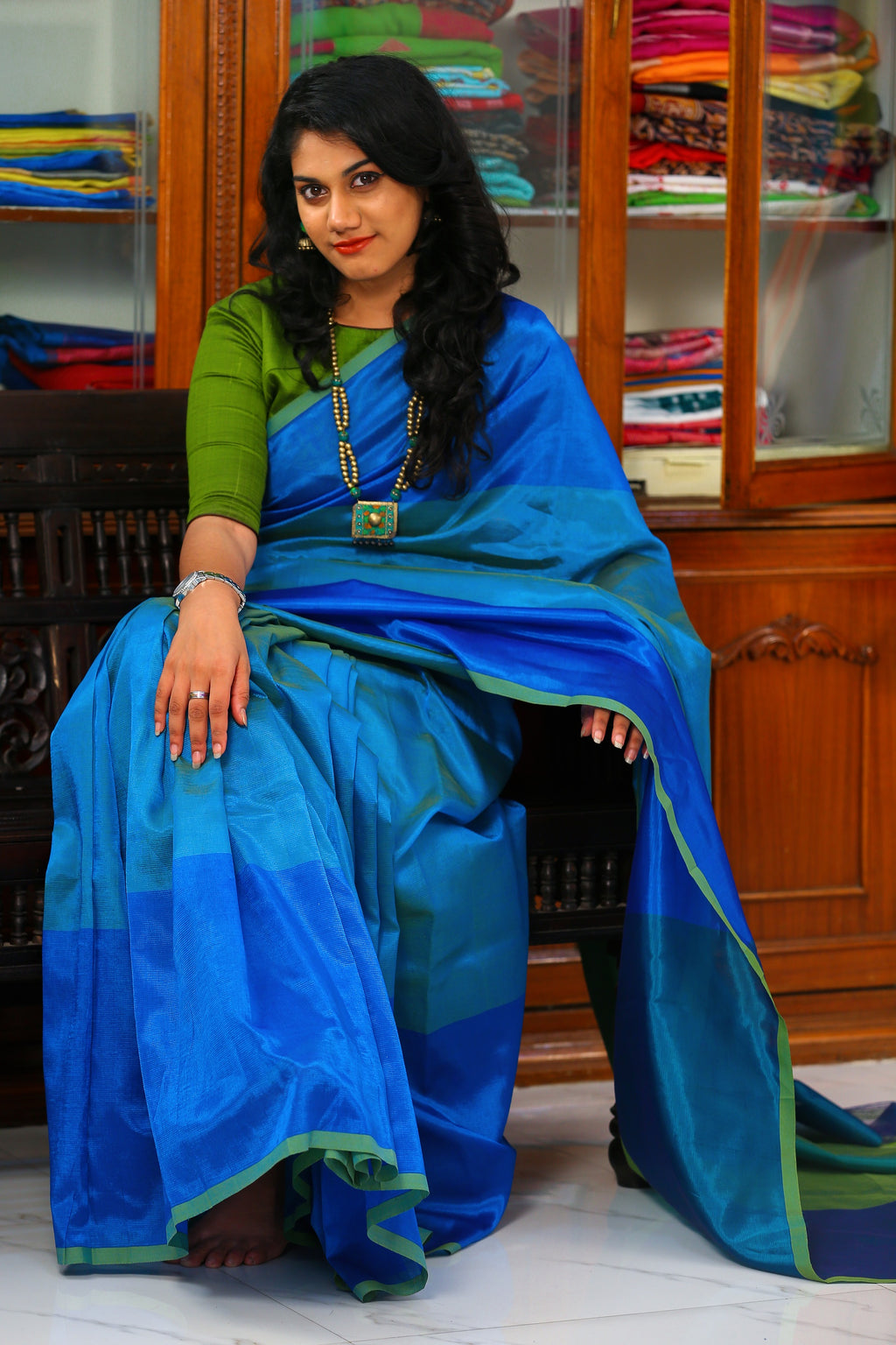 Mangalagiri Silk by Cotton Saree