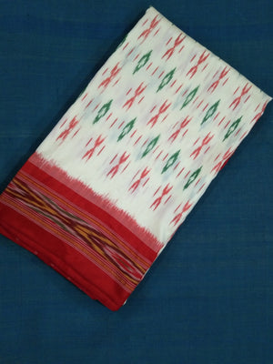 Pochampally Silk Saree - Offwhite