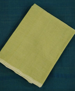 Summer Breeze Mangalagiri Cotton Saree - Light Green
