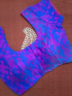 Blouse - Brocade - Art Silk - Purple & Pink