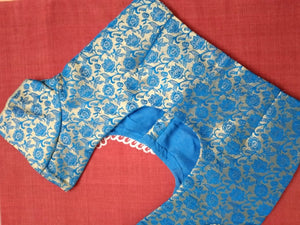 Blouse - Brocade - Art Silk - Blue